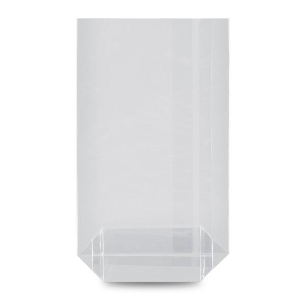 Kreuzbodenbeutel, transparent