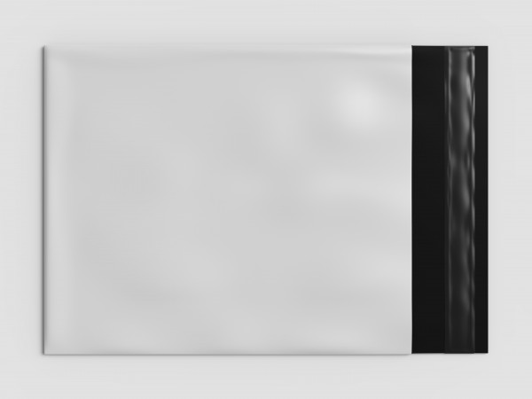 Klappenbeutel, schwarz/weiß