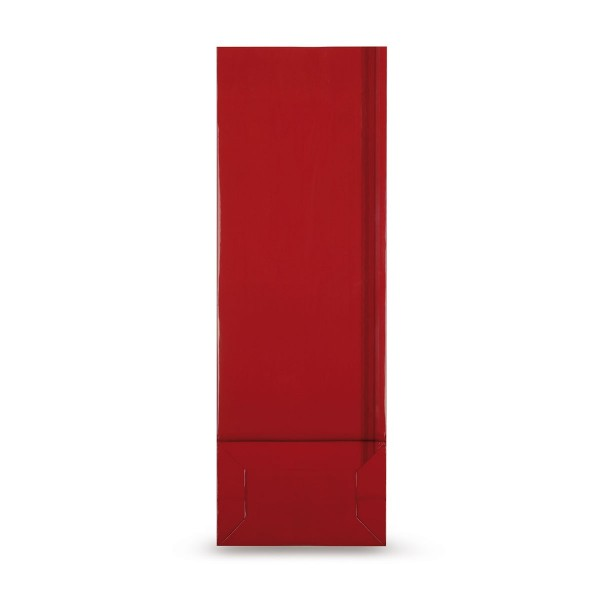 Blockbodenbeutel (beschichtet), rot
