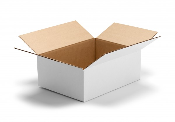 Karton 1-wellig weiss